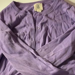 Purple button-up cardigan